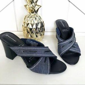 Rockport Adiprene by adidas denim heel sandals 7.5